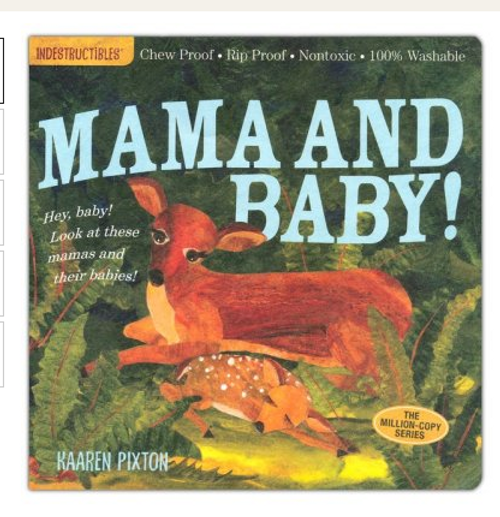 BOOK, MAMA AND BABY, Indestructibles - 12 Pages