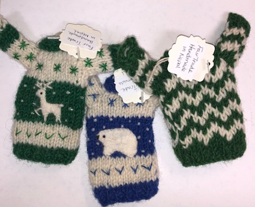 KNIT WOOL DOLL CLOTHING- Winter/Holiday
