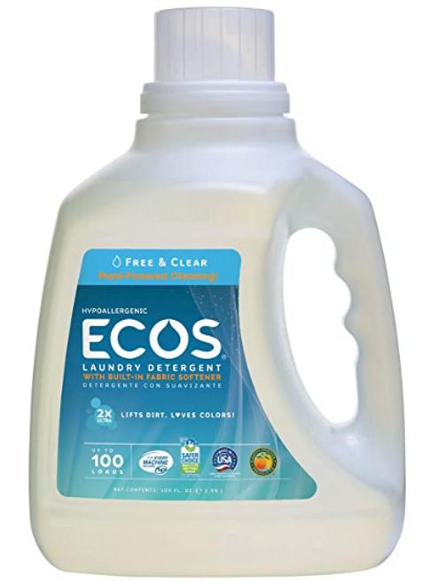 LAUNDRY DETERGENT, ECOS FREE & CLEAR, 100  fl oz
