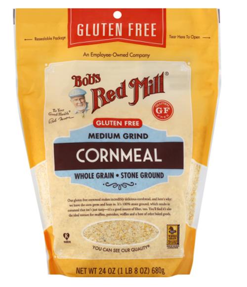 CORNMEAL,  GLUTEN-FREE Medium Grind,  Bob's 24 OZ
