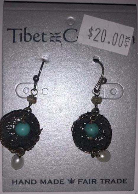 EARRINGS, BIRD NESTS, Tibet Collection