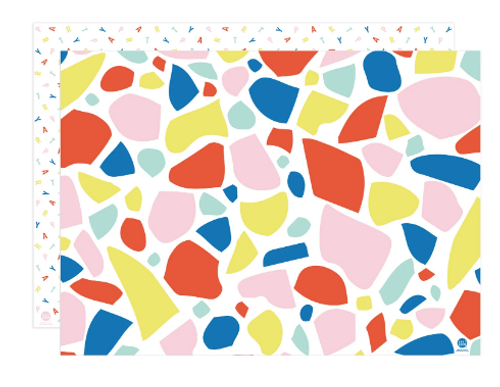 FLAT WRAPPING PAPER, 2-sided, Chip & Party EACH