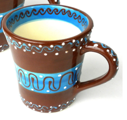 FLARED CUP-CHOCOLATE PAINTED, Encantada