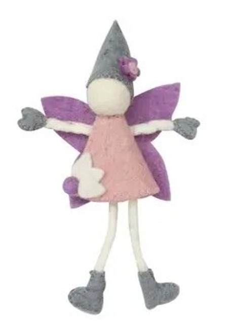 FAIRY, PASTEL FELTED, with DREAM POUCH, Global Groove - CREAM or COCOA
