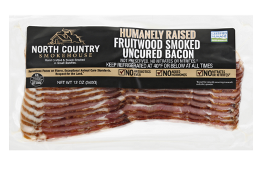 BACON, FRUITWOOD SMOKED, North Country, 1 lb