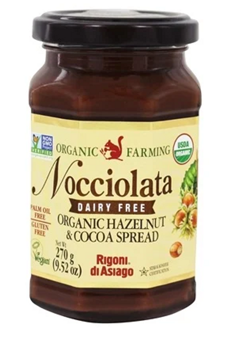 SPREAD, CHOCOLATE HAZELNUT, ORGANIC, Nocciolata 9.52 OZ