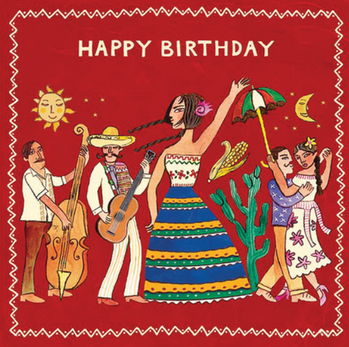 Card, BIRTHDAY CARD, MEXICO, Putumayo