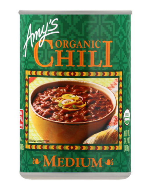 CHILI, MEDIUM, Organic, Amy's = 14.7 oz can