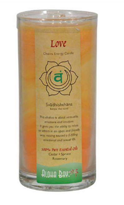 CANDLE, CHAKRA ENERGY, LOVE, Aloha Bay- 11 OZ Jar