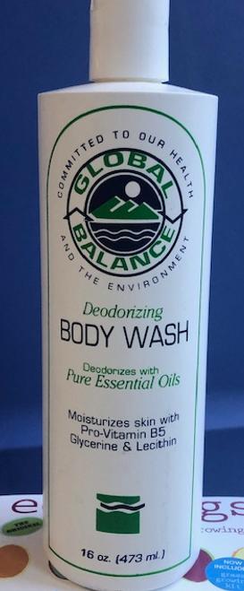 BODY WASH, DEODORIZING, Global Balance,   16 oz