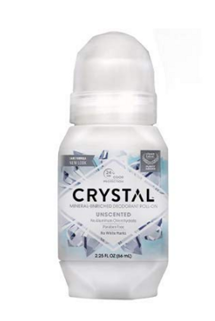 DEODORANT, ROLL ON, Unscented, CRYSTAL,     2.25oz