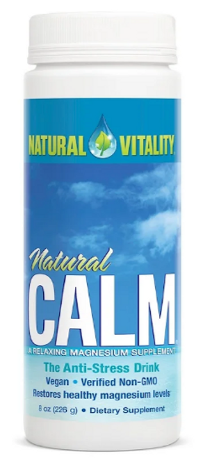 CALM, MAGNESIUM SUPPLEMENT, Unflavored, Natural Vitality, 8 oz