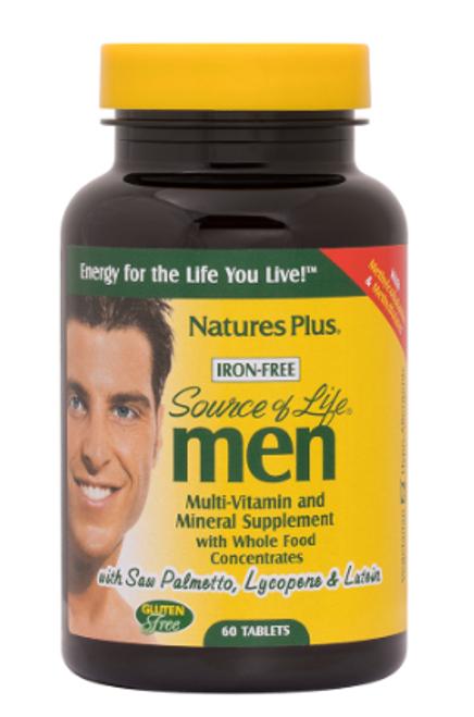 MULTIVITAMIN SOURCE OF LIFE MEN, Nature's Plus, 60 TAB