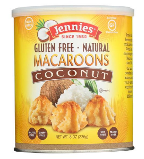 MACAROONS, COCONUT, Gluten-Free, Jennies 8 oz canister