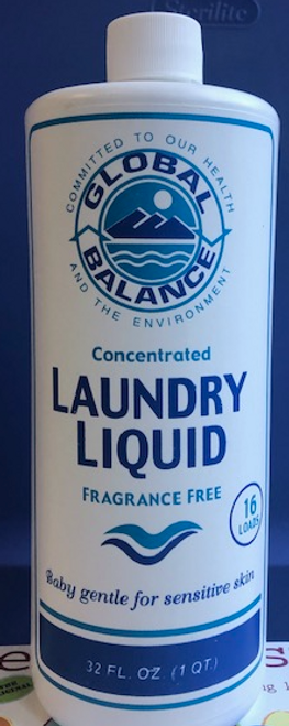 LAUNDRY LIQUID Fragrance Free, Global Balance,   32 oz