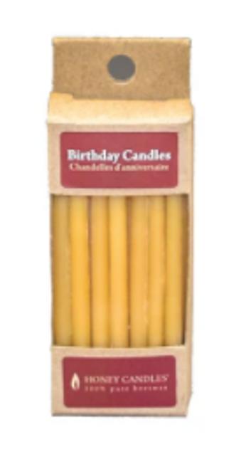 BIRTHDAY CANDLES- BEESWAX PLAIN 20/BOX