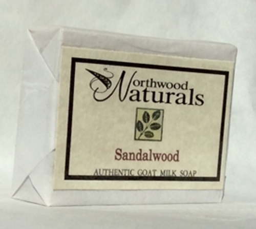 BAR SOAP, SANDALWOOD, Goat Milk. Northwood Naturals 4.5 oz
