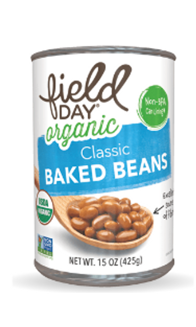 BAKED BEANS, CLASSIC Organic Field Day 15 oz