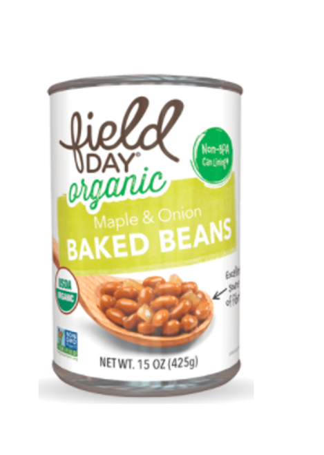 BAKED BEANS, Maple & Onion, Organic, Field Day 15 OZ