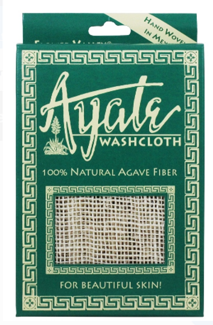 WASHCLOTH, AYATA 100% AGAVE FIBER, Flower Valley - 1 washcloth