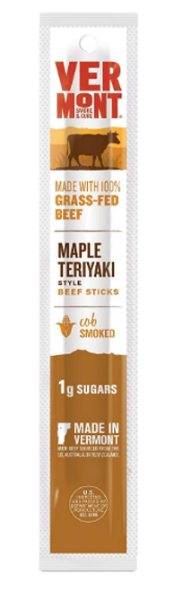 BEEF STICK, MAPLE TERIYAKI,  Vermont Smoke & Cure - 1 OZ