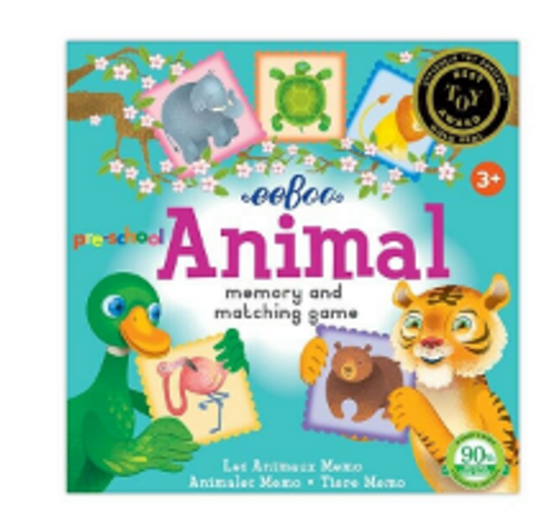 *SALE* GAME, MEMORY MATCHING, ANIMAL, eeBoo Reg. $13.75