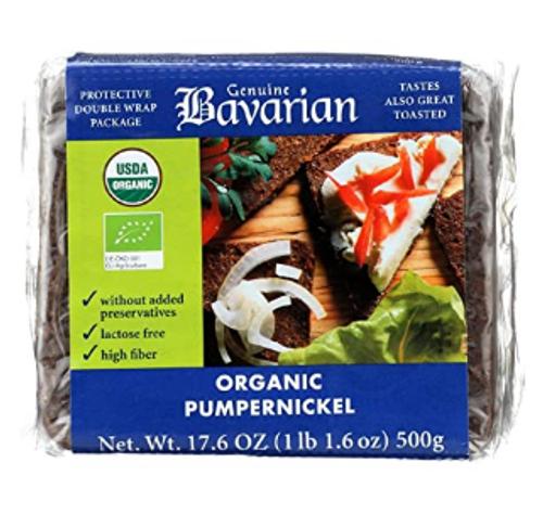 BREAD, PUMPERNICKLE BAVARIAN Organic, 17.6 oz