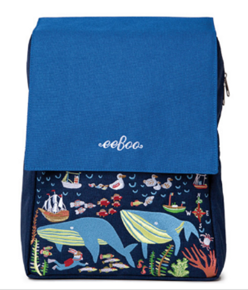 *DEAL* BACKPACK, HAPPY WHALES, Eeboo