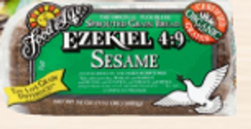 BREAD, SESAME, Organic,  EZEKIEL green label,    24 oz