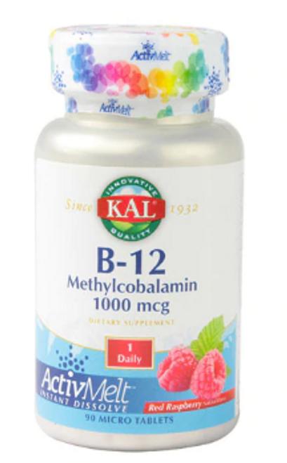 B-12 1000 MCG, KAL, 90 micro tabs