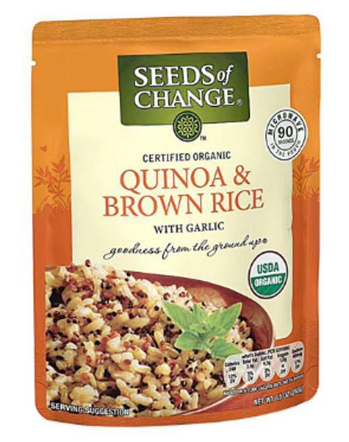 *DEAL* QUINOA & BROWN RICE, Organic, Seeds of Change - 8.5 oz. Pouch