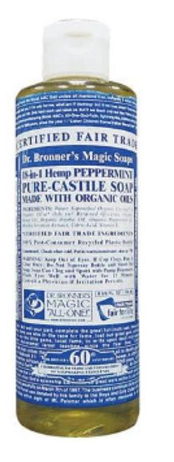 SOAP,  PEPPERMINT, Organic, DR. BRONNER'S   8 0z