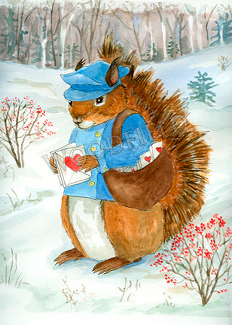 Horton (squirrel ) delivers Valentines