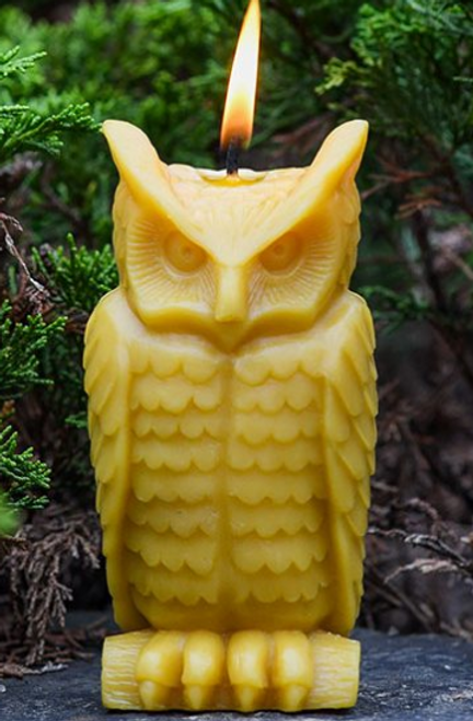 CANDLE - WISE OWL -BEESWAX, Local Sunbeam Candles