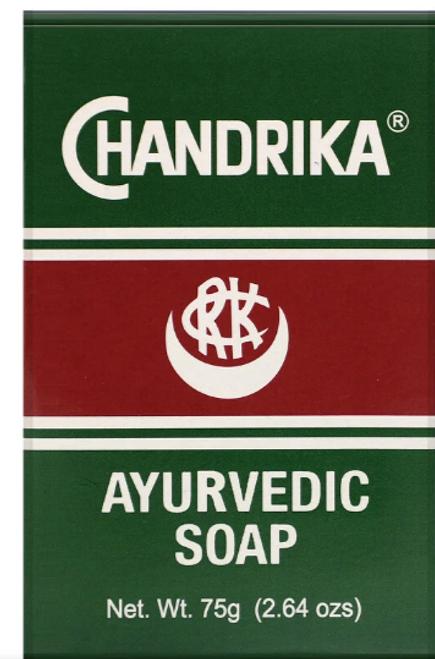 BAR SOAP, AYURVEDIC, CHANDRIKA,  2.64 oz