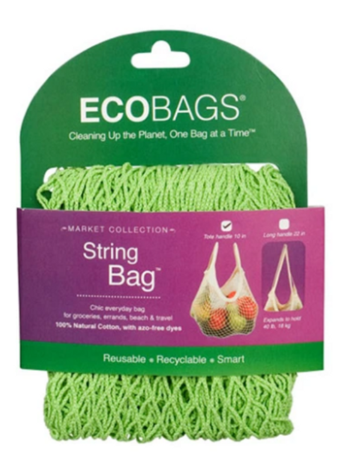 STRING BAG, TOTE HANDLE, LIME