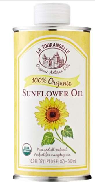 OIL, SUNFLOWER Organic, LA TOURANGELLE,    16.9 oz