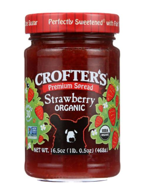 JAM, STRAWBERRY Spread Organic Crofters - 16.5 oz