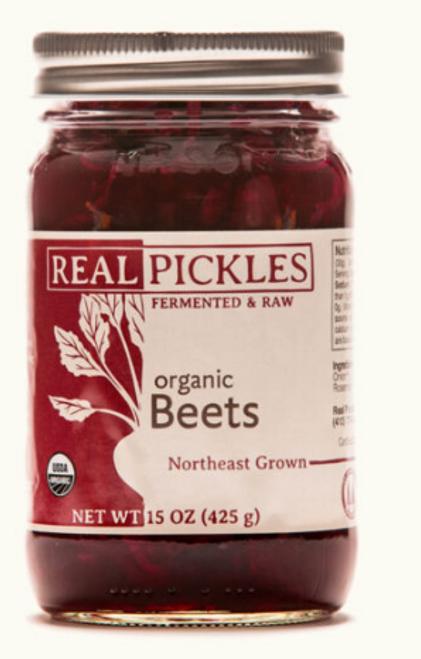 PICKLED BEETS, Organic, REAL PICKLES,   15 oz jar