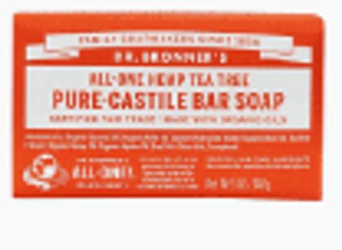 BAR SOAP, TEA TREE/HEMP, Dr. Bronner's, 5 oz