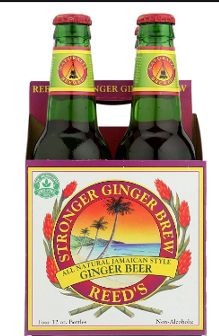 4pk STRONGER GINGER BEER, Reed's, incl 20 cents deposit