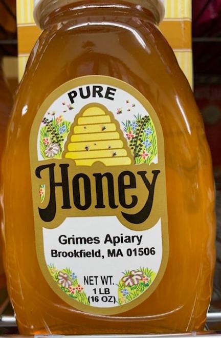 HONEY, LOCAL, Grimes Apiary, 1 pound jar