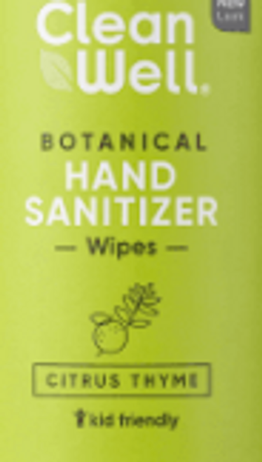 HAND SANITIZER WIPES, citrus thyme 10 count