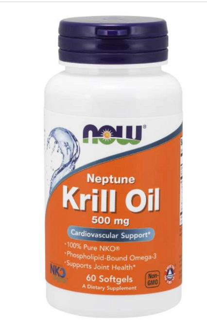 KRILL OIL NEPTUNE 500 MG, Now Foods, 60 Softgels