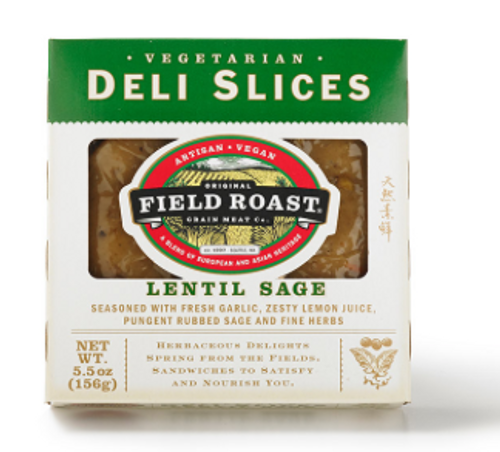 DELI SLICES, VEGAN, LENTIL SAGE Field Roast, 5.5oz