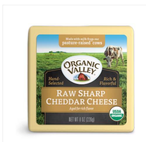 CHEESE, CHEDDAR, RAW SHARP, Organic, 8 oz