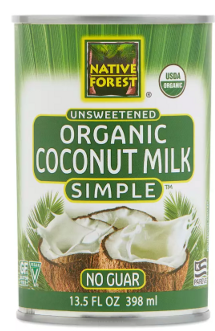 COCONUT MILK, Organic PURE AND SIMPLE Native Forest 13.5 OZ CAN