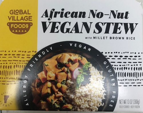 AFRICAN STEW with Vegetables & Rice, Global Village Cuisine, 13 oz