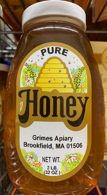 HONEY, LOCAL, Grimes APIARY, 2 pound jar