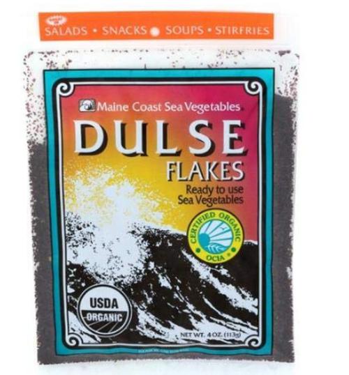 DULSE FLAKES, ORGANIC, Maine Coast - 4oz